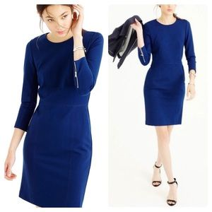 J Crew Structured knit zip dress
